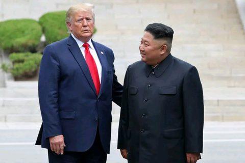 अमेरिकी राष्ट्रपति पुगे उत्तर कोरियाली भूमिमा