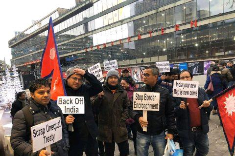 युरोपका विभिन्न देशस्थित भारतीय दुतावास घेराउ, सिमा अतिक्रमणको विरोध