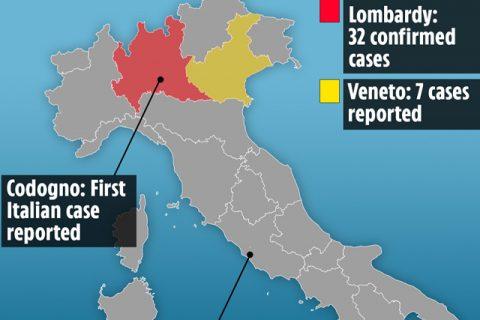 युरोपमै सबैभन्दा बढी कोरोना संक्रमित इटलीमा, झण्डै एक दर्जन शहर 'उच्च निगरानीमा'