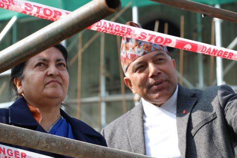 काठमाडौंको पुर्ननिर्मित पाँच सम्पदामा राष्ट्रपति पुग्दा (फोटोफिचर)