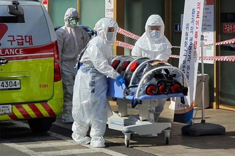 दक्षिण कोरिया पुग्यो कोरोना भाइरसको प्रकोप, १ को मृत्यु, कम्तीमा १ सयमा संक्रमण