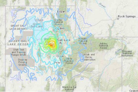 अमेरिकामा एकाविहानै  ५ दशमलव ७ रेक्टर स्केलको भूकम्प