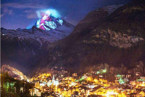 मध्यरातमा स्वीट्जरल्याण्डको हिमालमा कसरी देखियो नेपाली राष्ट्रिय झण्डा ?