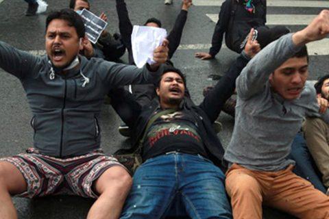 भारतीय अतिक्रमणका विरुद्द आजपनि काठमाडौंमा प्रदर्शन, दर्जनौं विद्यार्थी पक्राउ