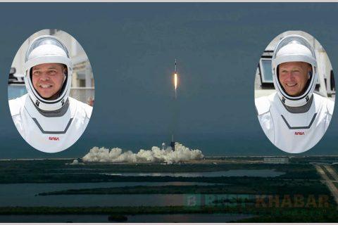दुई मानवसहित अमेरिकाले अन्तरिक्षमा पठायो रकेट (भिडियोसहित)