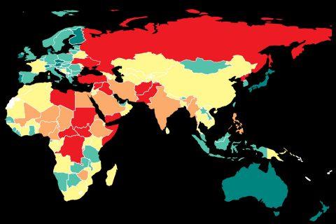 विश्वमा सबैभन्दा शान्तिपूर्ण देश आइसल्याण्ड : नेपाल ७३ औं नम्बरमा (सूचीसहित)