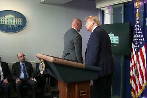 अमेरिकी राष्ट्रपतिले पत्रकार सम्मेलन गरिरहँदा ह्वाईट हाउस बाहिर गोली चल्यो, ट्रम्पको पत्रकार सम्मेलन स्थगित (भिडियोसहित)