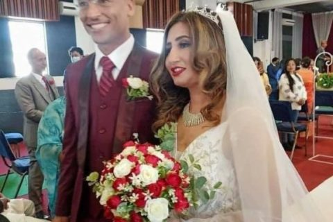 पाटनको चर्चमा गायिका अन्जु पन्तको विवाह